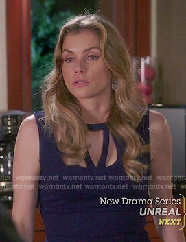 Taylor's navy blue dress with cutouts on Devious Maids