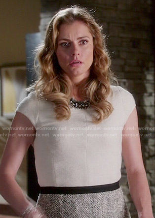 Taylor's two-tone tweed dress on Devious Maids