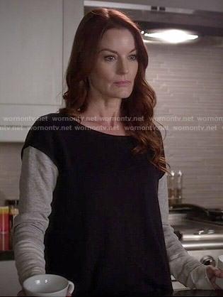 Ashley's colorblock sweater on Pretty Little Liars