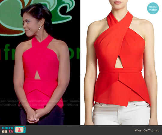 Remmie Top by Bcbgmaxazria worn by Maya Avant (Karla Mosley) on The Bold & the Beautiful