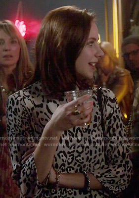 Brenna's grey leopard print dress on Chasing Life