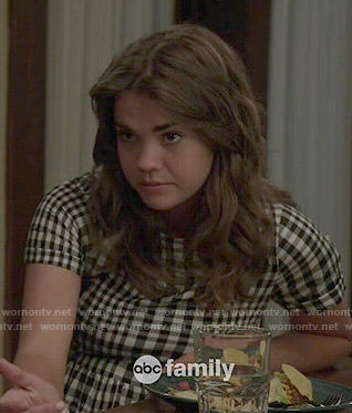 Callie's gingham checked dress on The Fosters