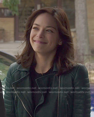 Cat's green leather jacket on Beauty and the Beast