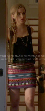 Emma's multi colored skirt on Scream