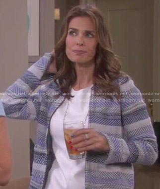 Hope's blue striped jacket on Days of our Lives