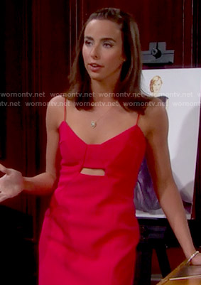 Ivy's red cutout dress on The Bold and the Beautiful