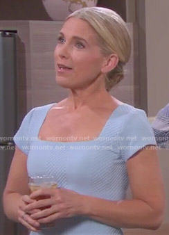 Jennifer's blue textured dress on Days of our Lives