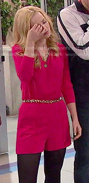 Liv's red romper on Liv and Maddie