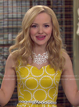 Liv's yellow polka dot dress on Liv and Maddie