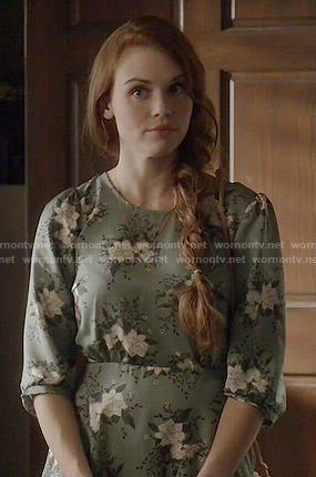 Lydia's green floral dress on Teen Wolf