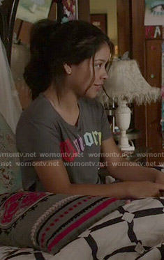 Mariana's Unicorn tee on The Fosters