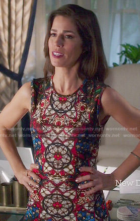 Marisol's stained glass print dress on Devious Maids