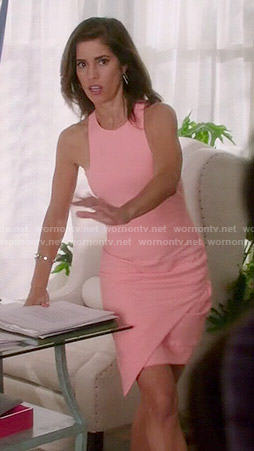 Marisol's pink asymmetric dress on Devious Maids