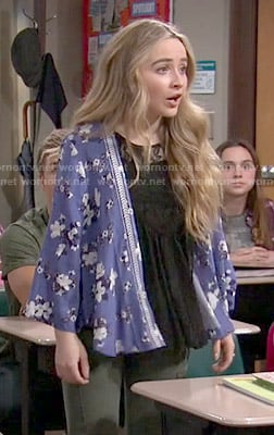 Maya's blue floral kimono on Girl Meets World