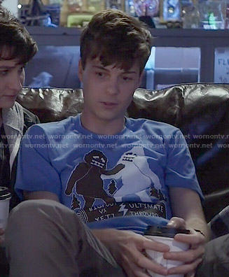Noah's Bigfoot vs Yeti tee on Scream
