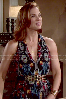 Phyllis's printed maxi dress on The Young and the Restless