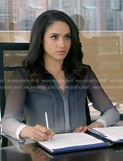 Rachel's ombre blouse on Suits