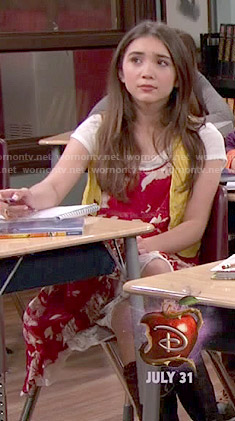 Riley's red and white floral dress on Girl Meets World