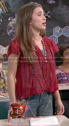 Riley's red lace top on Girl Meets World