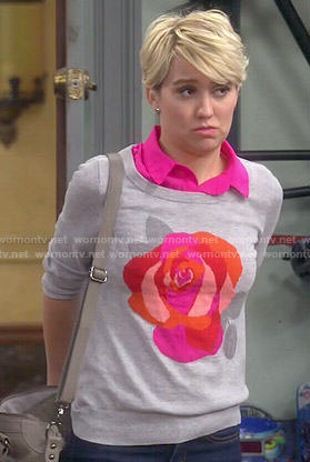 Riley's rose print sweater on Baby Daddy