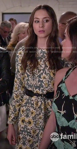 Spencer's floral long sleeved dress on Pretty Little Liars