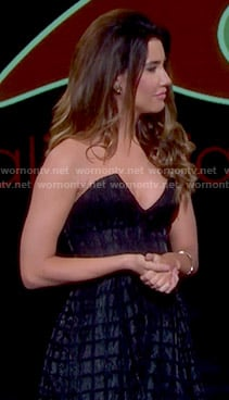 Steffy's black strapless dress on The Bold and the Beautiful
