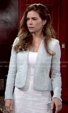 Victoria's light blue jacket on The Young and the Restless