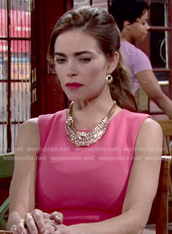 Victoria's pink dress on The Young and the Restless