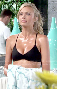Abby's black bikini top on The Young and the Restless