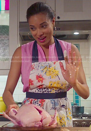 April's floral apron on Mistresses