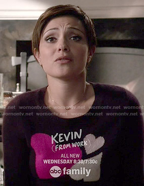 April's purple heart sweater on Chasing Life