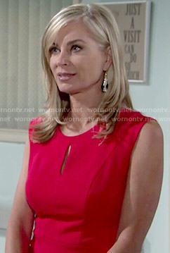 Ashley's red keyhole dress on The Young and the Restless