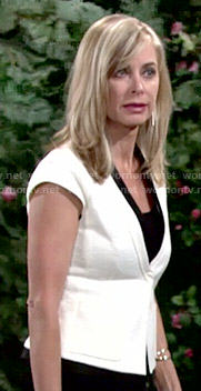 Ashley's white short sleeved jacket on The Young and the Restless