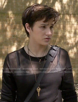 Audrey's black mesh panel sweatshirt on Scream