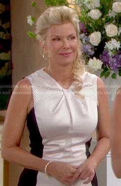 Brooke's twist front dress on The Bold and the Beautiful