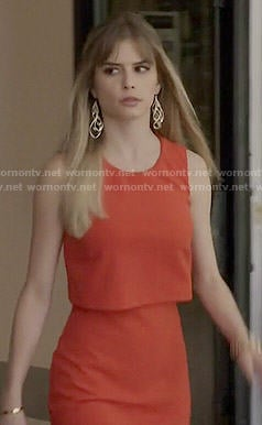 Brooke's red overlay dress on Scream