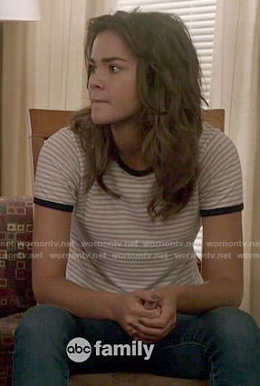 Callie's striped tee on The Fosters