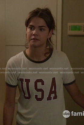 Callie's USA tee on The Fosters