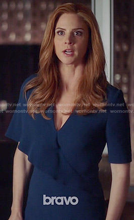Donna's blue overlay dress on Suits