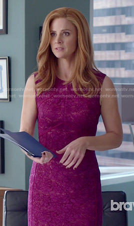 Donna's pink lace dress on Suits