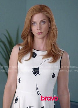 Donna's white floral dress on Suits