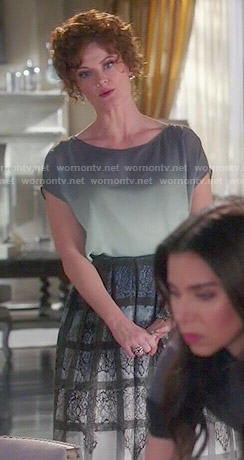 Evelyn's ombre lace print skirt on Devious Maids