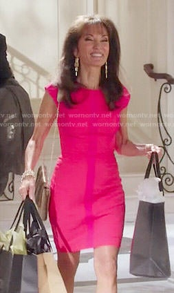 Genvieve's coral dress on Devious Maids