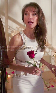 Genvieve's white peplum dress on Devious Maids