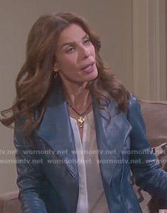 Hope's blue leather jacket on Days of our Lives