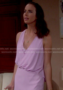Ivy's draped lavender dress on The Bold and the Beautiful