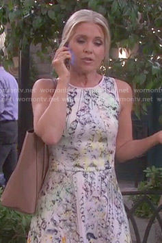 Jennifer's crystal printed dress on Days of our Lives