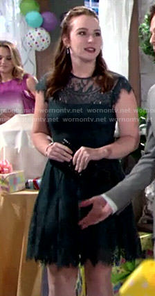 Mariah's black lace dress on The Young and the Restless