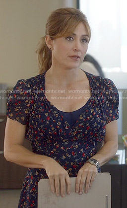 Maura's blue floral dress on Rizzoli and Isles
