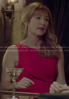 Maura's red zip front dress on Rizzoli and Isles